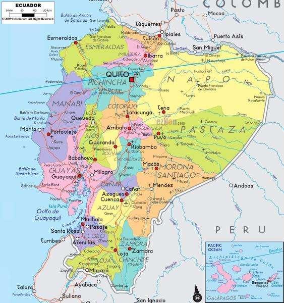 Ecuador Térkép - Ecuadori térkép Exkluzív lehetőség 2015-re (10×10)