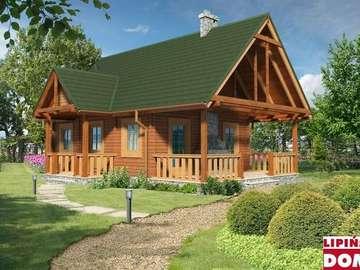 Holzhaus - Dom cały w zieleni ich drewnie