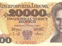 Banknot z czasów PRL - Maria Curie - Skłodowska na banknocie z czasów PRL