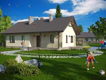 Ett hus med vind - Bra kul utanför huset