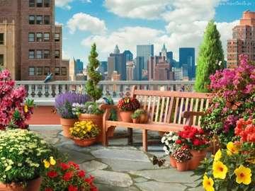 taras,panorama,kwiaty,fotel - taras,panorama,kwiaty,fotel