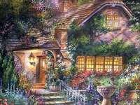 цветен вход към къщата