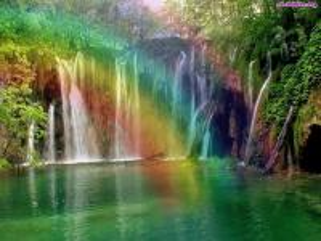 tęczowy wodospad,skały - tęczowy wodospad,skały