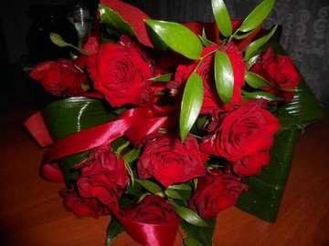 flowers, flowers  - czerwone róże takie lubię najbardziej