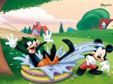 Mickey Mouse - puzzle myszki miki, łatwe do ułozenia