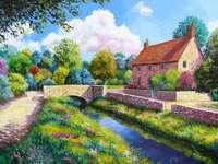 maison au dessus du ruisseau
