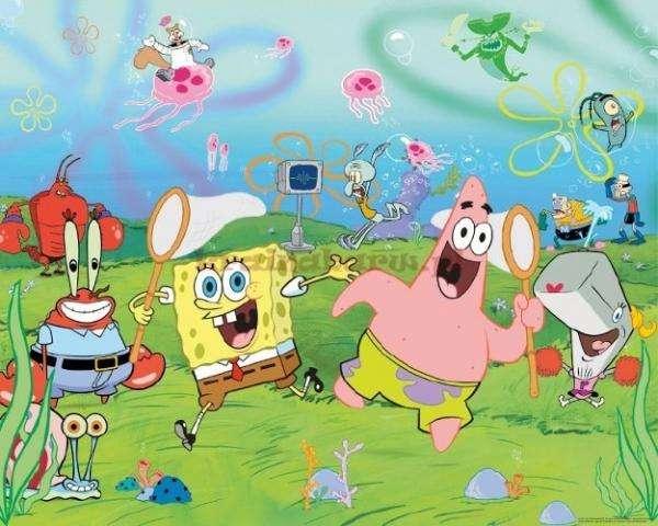 Bob l'éponge - spongebob kanciastoporty je przyjaciele (8×8)