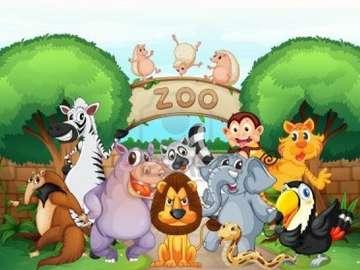 zoo zwierzeta - zabawne i radosne  zwierzęta w zoo