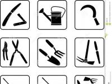 narzędzia ogrodnicze - Spróbuj ułożyć narzędzia