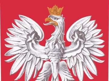 godło Polski - Spróbuj ułożyć godło Polski.