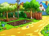 anim.:ogródek,grządki,ścieżki