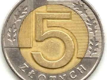 moneta 5 zł - Spróbuj ułożyć 5 zł