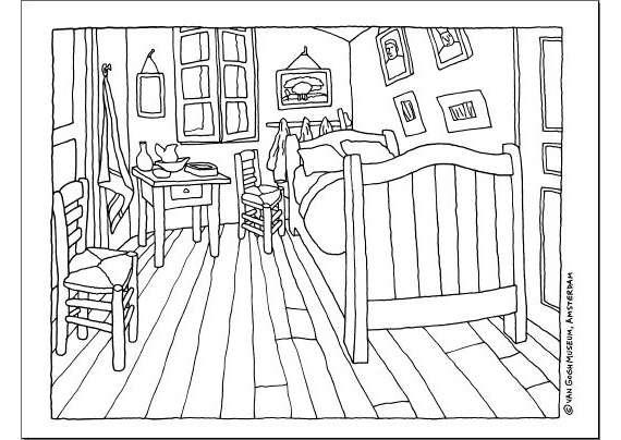 camera van gogh - la camera di van gogh (5×5)