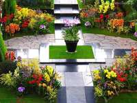 Marmor trädgård centrum