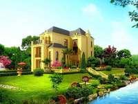Ett vackert hus på landet