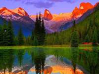 Канадски пейзаж, езерце