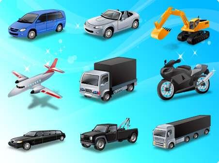 set di veicoli - Super zestaw pojazdów (3×3)