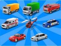 transport - Ułóż zestaw pojazdów