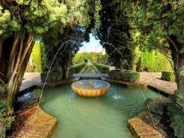 Гранада, парк, фонтан