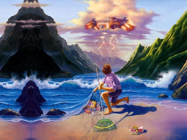 fantasy pláž čištění