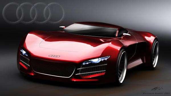 audi czerwone - jest to audi czerwone auto (5×5)