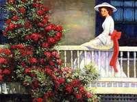 doamna de la balcon, trandafiri