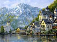 oraș sub munți, lac