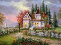 small castle in the garden by