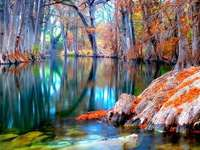 Färgglad flod