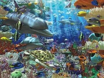 locuitori colorat de mare - în fundul oceanului - pește colorat