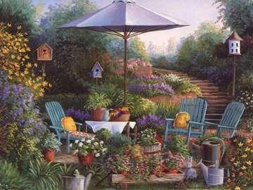 Ecke im Garten - kątek wypoczynkowy w ogrodzie