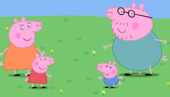 peppapigfamily - puzzle a peppa sertés és a család (7×5)