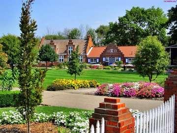 zahrada, majetek, dům - zahrada, majetek, domů, zelená