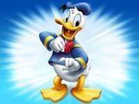Donald Duck - Puzzle de 4 piese pentru copii de 3 ani
