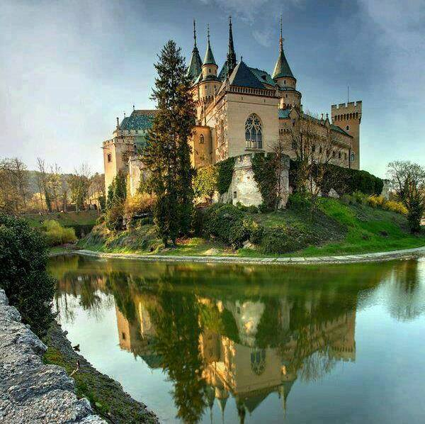 Romantic building  - Zamek w Bojnicach na Słowacji