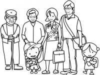 coloring book with family - My family. Coloring book. Picture puzzle