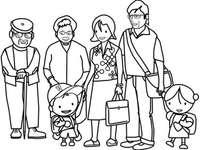 målarbok med familjen - Min familj Färg. Bildpussel