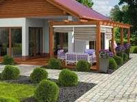 Ett vackert hus i trädgården
