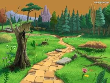 Fantasy landscape - Baśniowy krajobraz - grafika komputerowa