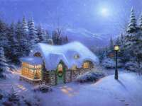 Зима и почивка - Кабина в гората, зима, празници