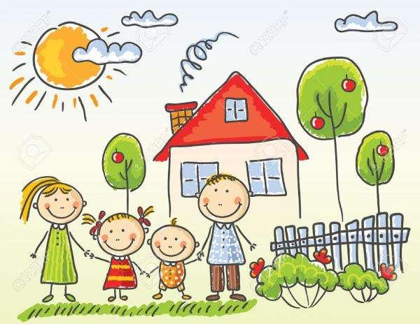 puzzle rodzina - Dopasuj puzzle do siebie tak, aby stworzyły obrazek rodziny.