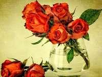 rozen in een vaas