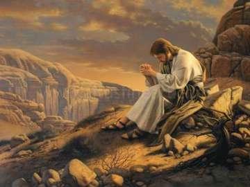 Jesús en el desierto - religión edukacja wczesnoszkolna