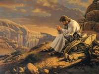 Jézus a sivatagban