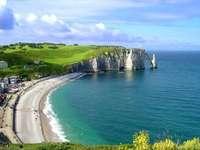 Francie, útesy - krásný výhled, Francie