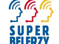 SuperBelfrzy - SuperBelfrzy. Ne samodzielnego złożenia logo kreatywnej grupy nauczycieli. Logo SuperBelfrów, fai