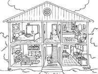 Maison et ses chambres