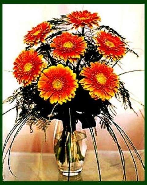 schoene Blumen - wazon gustownych kwiatów (10×5)