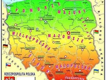 Χάρτης της Πολωνίας για παιδιά - Μεγάλη διασκέδαση για τους νεότερους
