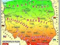 Karta över Polen för barn - Jättekul för de yngsta